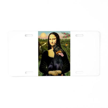 Mona's Doberman Aluminum License Plate