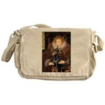 The Queen's Dobie Messenger Bag