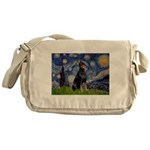 Starry Night Doberman Messenger Bag