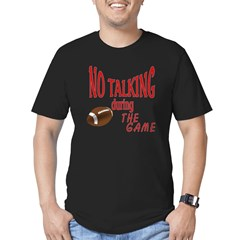 No Talking Football Men's Fitted T-Shirt (dark)