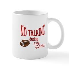 No Talking Football Mug
