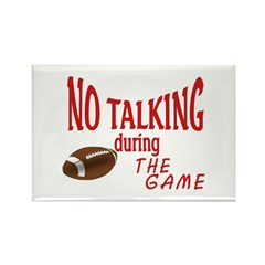No Talking Football Rectangle Magnet (100 pack)