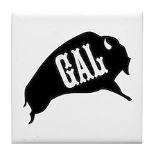 Buffalo Gal Tile Coaster