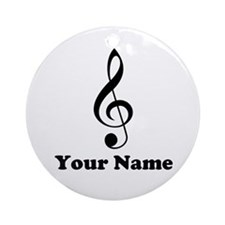 Treble Clef Music Personalized Ornament Gift