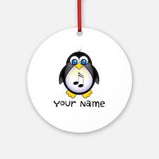 Customized Music Penguin Keepsake Ornament