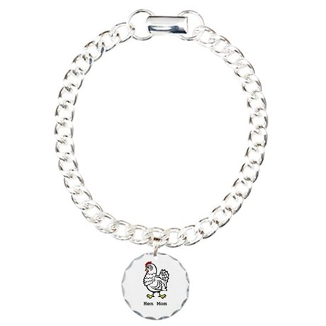Chicken Mom Charm Bracelet, One Charm