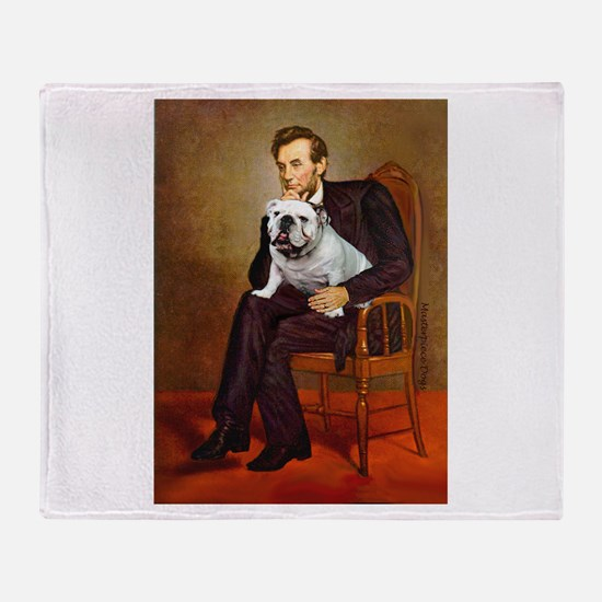 Lincoln's English Bulldog Throw Blanket
