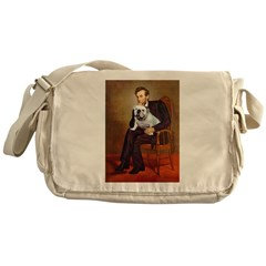 Lincoln's English Bulldog Messenger Bag
