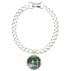 Sailboats /English Bulldog Bracelet