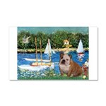 Sailboats /English Bulldog Car Magnet 20 x 12