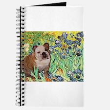 Irises / 2 English Bulldogs Journal