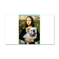 Mona's English Bulldog Car Magnet 20 x 12