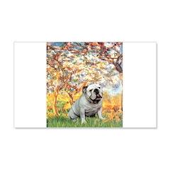 Spring/ English Bulldog (#9) 20x12 Wall Decal