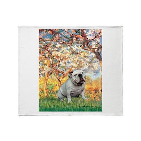 Spring/ English Bulldog (#9) Throw Blanket