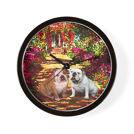 The Path / Two English Bulldogs Wall Clock