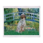 Bridge / English Setter Throw Blanket