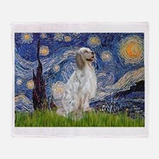 English Setter / Starry Night Throw Blanket