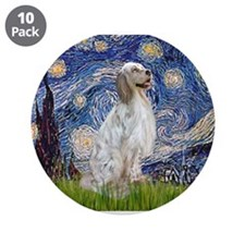 """English Setter / Starry Night 3.5"""" Button (10 pack"""