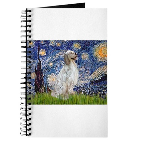 English Setter / Starry Night Journal