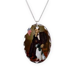 Lincoln / Eng Springer Necklace Oval Charm