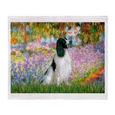Monet's garden & Springer Throw Blanket
