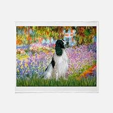 Monet's garden & Springer Throw Blanket