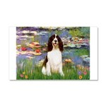 Lilies / Eng Spring Car Magnet 20 x 12