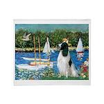 Sailboats / Eng Springer Throw Blanket