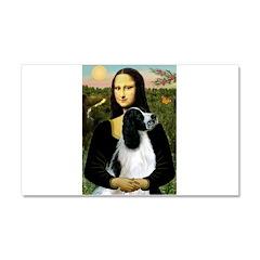 Mona Lisa/English Springer Car Magnet 20 x 12