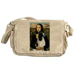 Mona Lisa/English Springer Messenger Bag