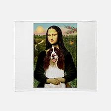 Mona/ English Springer Throw Blanket