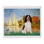 Sailboats / Eng Spring Throw Blanket