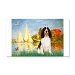 Sailboats / Eng Spring Car Magnet 20 x 12
