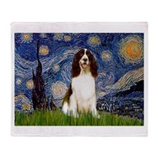 Starry Night / Eng Spring Throw Blanket