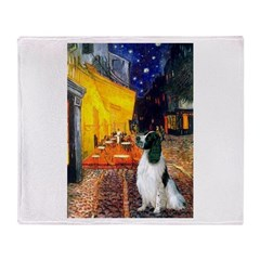 Cafe / Eng Springer Throw Blanket