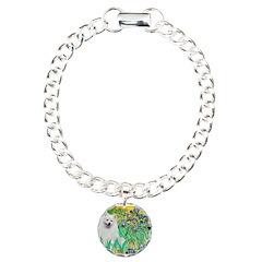 Irises / Eskimo Spitz #1 Charm Bracelet, One Charm