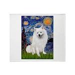 Starry / Eskimo Spitz #1 Throw Blanket