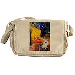 Cafe / Eskimo Spitz #1 Messenger Bag