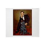 Lincoln / Flat Coated Retriev Throw Blanket