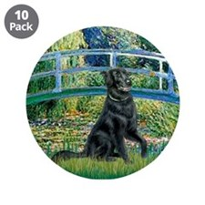"""Flat Coated Retriever 2 3.5"""" Button (10 pack)"""