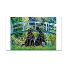 Flat Coated Retriever (two) Car Magnet 20 x 12