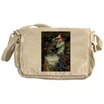 Ophelia / Flat Coated Retriev Messenger Bag
