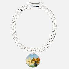 Sailboats / Flat Coated Retri Bracelet