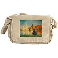 Sailboats / Flat Coated Retri Messenger Bag