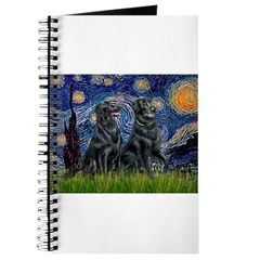 Starry / Two Flat Coated Ret Journal