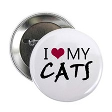 "'I Love My Cats' 2.25"" Button"