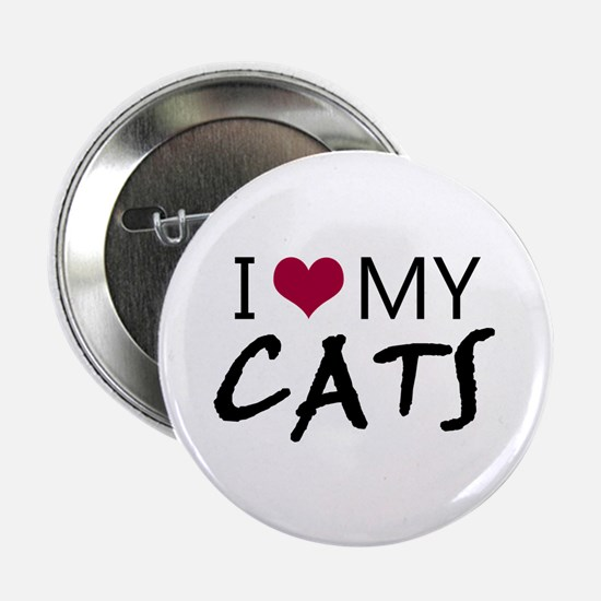 """'I Love My Cats' 2.25"""" Button (10 pack)"""
