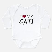 'I Love My Cats' Long Sleeve Infant Bodysuit