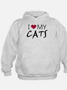 'I Love My Cats' Hoodie
