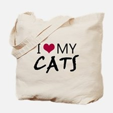 'I Love My Cats' Tote Bag
